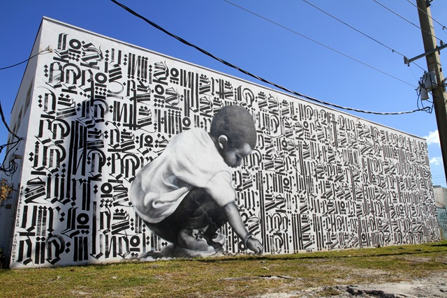 Miami Art Basel: El Mac x Retna (photo by Becki Fuller)