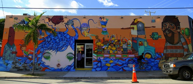 Miami Art Basel: Os Gemeos x Nina (photo by Becki Fuller)