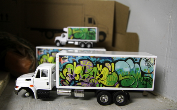 UR New York in the process of making limited edition mini-trucks (photo by Becki Fuller)