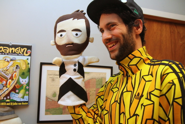Jon Burgerman: Master of Puppets (photo by Becki Fuller)