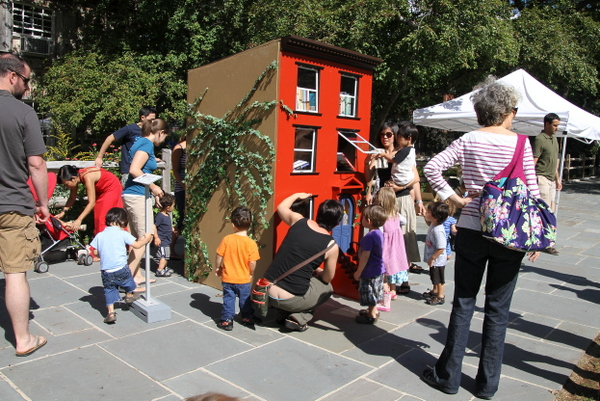"Leon Reid IV's ""The Hundred Story House"" opens in JJ Byrne Park (photo by Becki Fuller, © Leon Reid IV)"