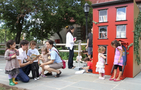 "It's family time at Leon Reid IV's ""The Hundred Story House (photo by Becki Fuller, © Leon Reid IV)"