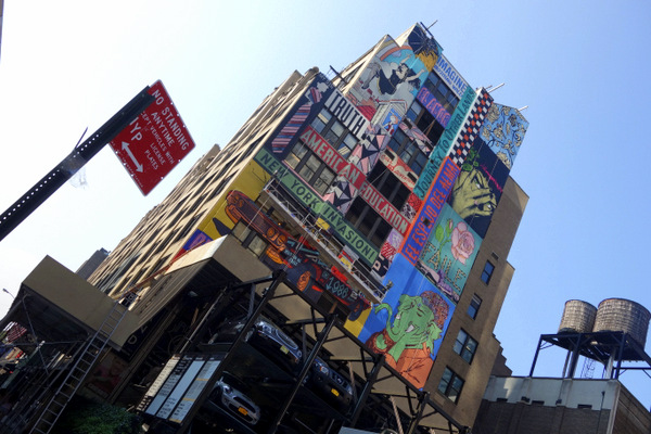 Faile mural in Hell's Kitchen (photo by Becki Fuller)