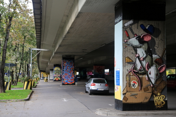Donnersbergerbrücke: Woodland x Neso (photo by Luna Park)