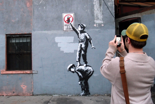 Banksy NYC residency (photo by Luna Park)