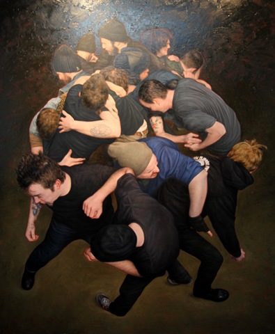 Dan Witz studio visit (photo by Becki Fuller)