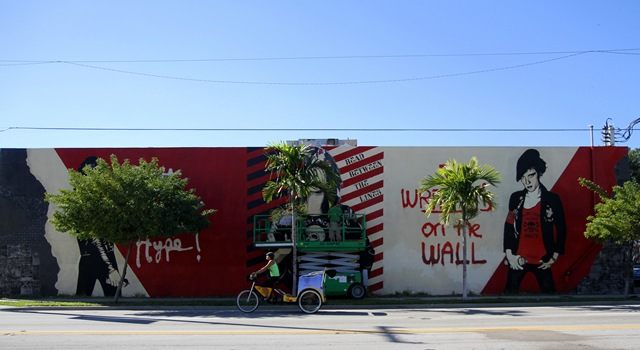 Miami Art Basel: Shepard Fairey (photo by Becki Fuller)