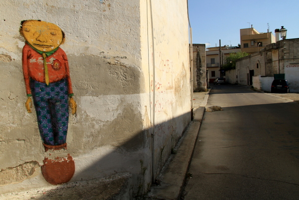Os Gemeos in Grottaglie (photo by Luna Park)